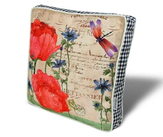 Perne decorative pentru scaun. Cinci idei deosebite cu modele florale - Poza 4