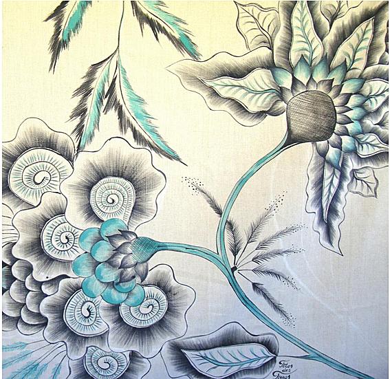 Creeaza un colt de poveste si natura in casa ta cu draperiile florale handmade pictate manual - Poza 2