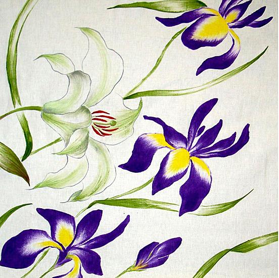 Creeaza un colt de poveste si natura in casa ta cu draperiile florale handmade pictate manual - Poza 3