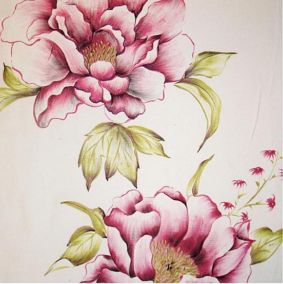 Creeaza un colt de poveste si natura in casa ta cu draperiile florale handmade pictate manual - Poza 4