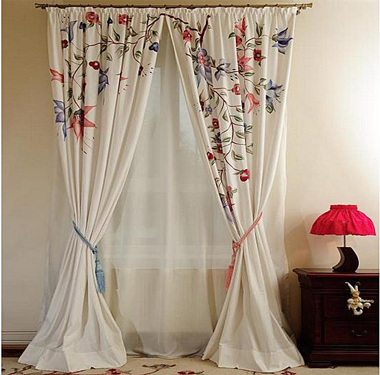 Creeaza un colt de poveste si natura in casa ta cu draperiile florale handmade pictate manual - Poza 5