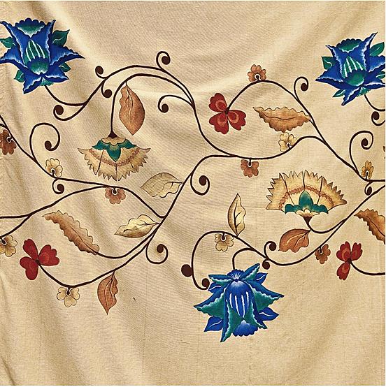 Creeaza un colt de poveste si natura in casa ta cu draperiile florale handmade pictate manual - Poza 6