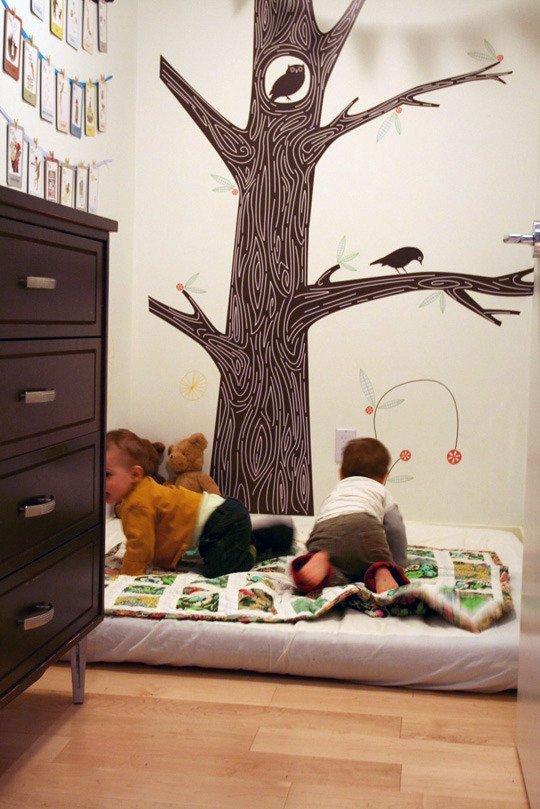 11 modele de paturi pentru copii la nivelul podelei - Poza 8