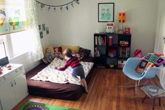 11 modele de paturi pentru copii la nivelul podelei - Poza 4