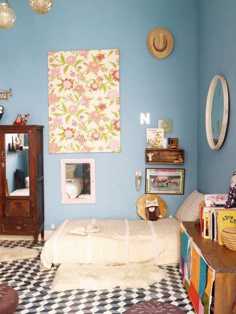 11 modele de paturi pentru copii la nivelul podelei - Poza 9