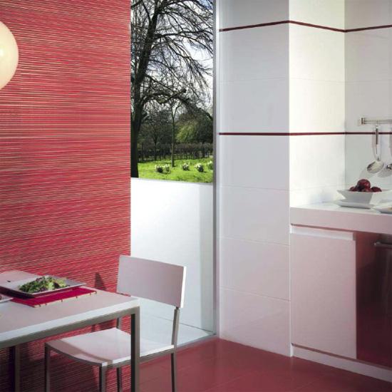 Sase combinatii moderne de gresie si faianta in rosu cu alb - Poza 5