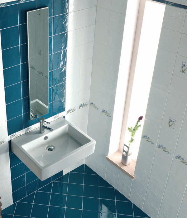 Sase combinatii de gresie si faianta in nuante deosebite pentru baie - Poza 1