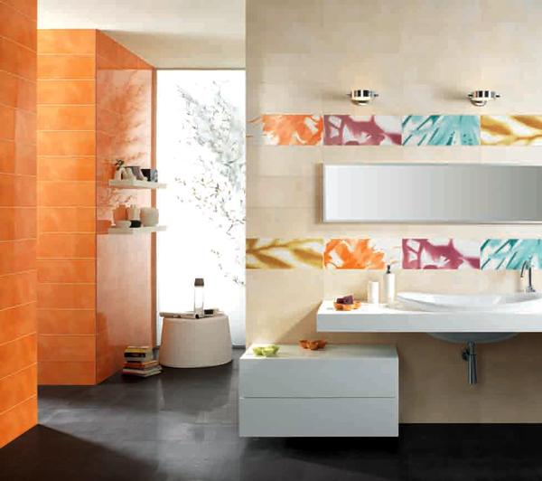 Sase combinatii de gresie si faianta in nuante deosebite pentru baie - Poza 2