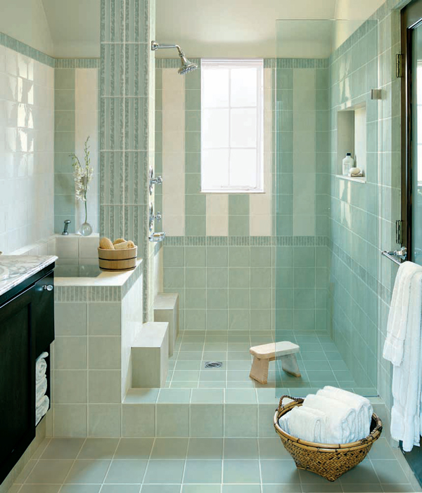 Sase combinatii de gresie si faianta in nuante deosebite pentru baie - Poza 4