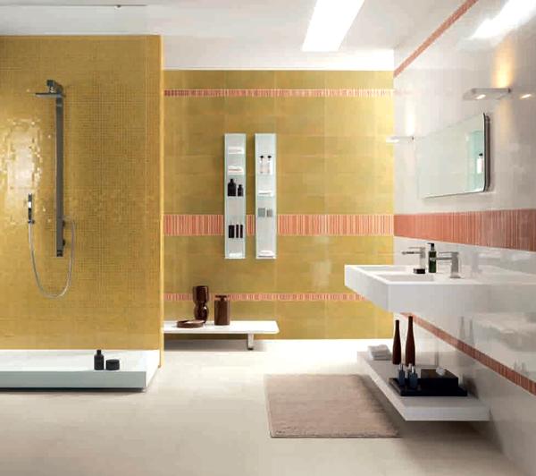 Sase combinatii de gresie si faianta in nuante deosebite pentru baie - Poza 6