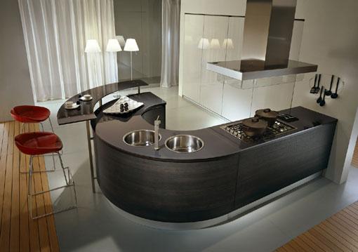 Mobila de bucatarie din alta lume: modele rotunde cu insula - Poza 4