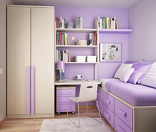 Galerie foto: camere pentru tineret amenajate pe nuante de violet - Poza 1
