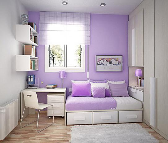 Galerie foto: camere pentru tineret amenajate pe nuante de violet - Poza 2