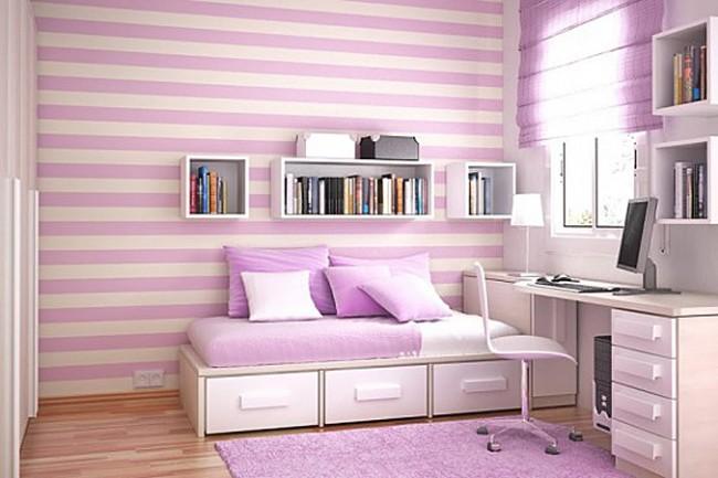 Galerie foto: camere pentru tineret amenajate pe nuante de violet - Poza 3