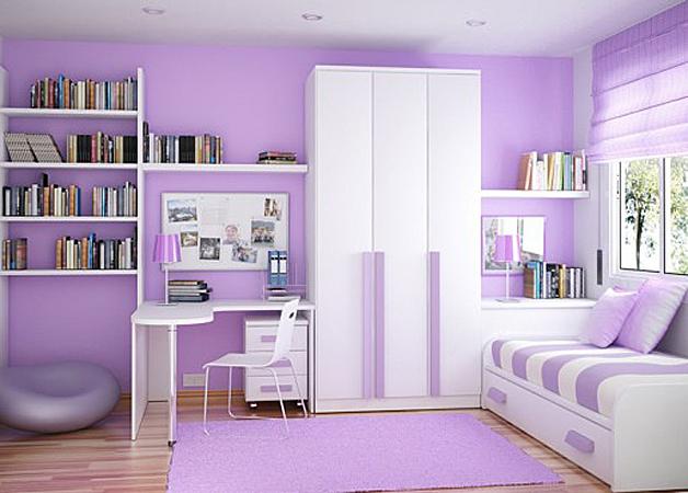 Galerie foto: camere pentru tineret amenajate pe nuante de violet - Poza 4