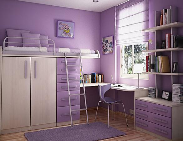 Galerie foto: camere pentru tineret amenajate pe nuante de violet - Poza 5