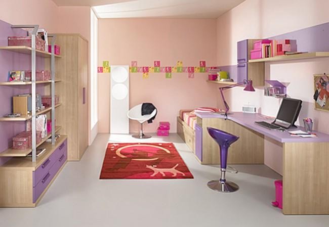 Galerie foto: camere pentru tineret amenajate pe nuante de violet - Poza 6