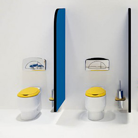 Galerie foto: o minunata amenajare de baie pentru copii pe albastru si galben - Poza 3
