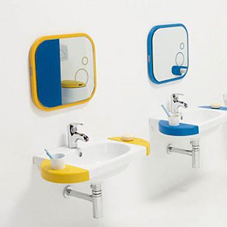 Galerie foto: o minunata amenajare de baie pentru copii pe albastru si galben - Poza 4