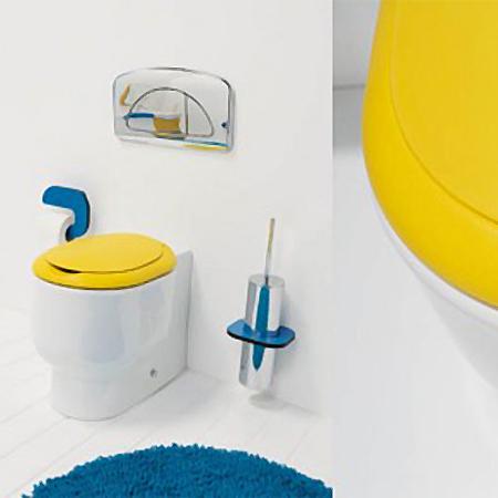 Galerie foto: o minunata amenajare de baie pentru copii pe albastru si galben - Poza 6
