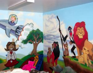 Idei pentru amenajarea camerei copilului: desene animate - Poza 1