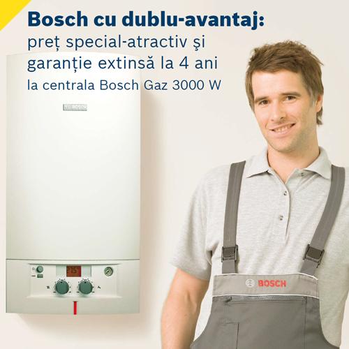 Centrala termica Bosch Gaz 3000 W: pret special si garantie extinsa - Poza 1