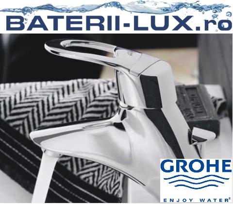 Baterii de baie Grohe Chiara. Oferiti baii dumneavoastra o infatisare distinctiva cu aceasta baterie contemporana - Poza 1