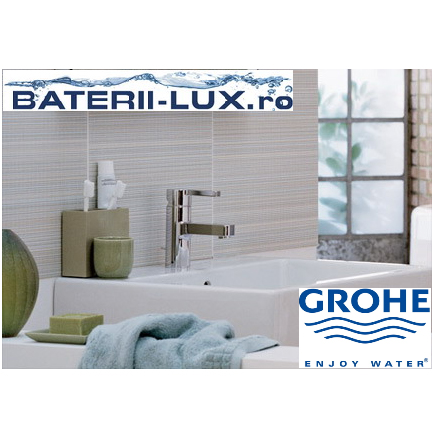 Daca alegeti aspectul minimalist, va recomandam bateriile de baie Grohe Lineare - Poza 1