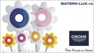 Colectia pare de dus GROHE Rainshower® Flower conceputa pentru o experienta plina de culoare a dusului