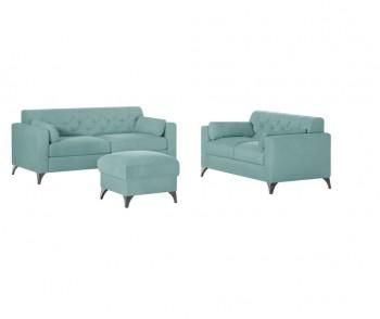 Set canapea cu 3 locuri, canapea cu 2 locuri si un puf Vanity