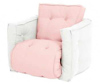 Fotoliu extensibil pentru copii Mini Dice Pink Peonie