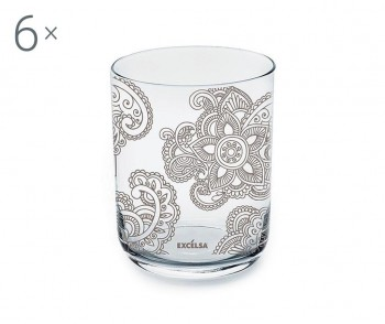 Set 6 pahare Enjoy Mandala 350 ml