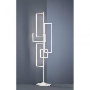Lampadar LED Trio Tucson, înălțime 161 cm, alb