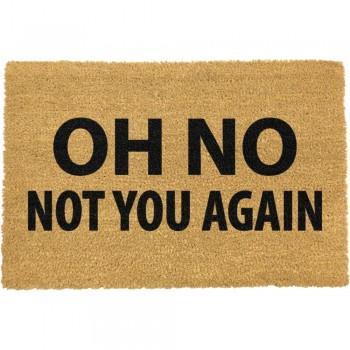 Covoraș intrare din fibre de cocos Artsy Doormats Not You Again