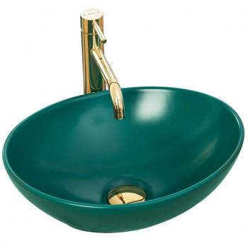 Lavoar verde mat pe blat Rea Sofia 41 cm