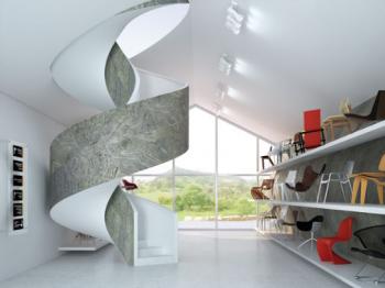 Piatra flexibila ca element decorativ