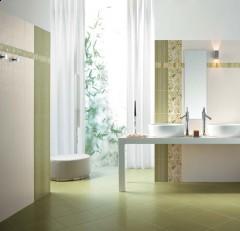 Sase idei superbe pentru amenajarea cu gresie si faianta a camerei de baie