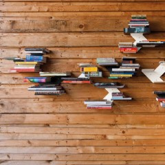 Ingeniozitate la maxim: rafturi invizibile pentru carti