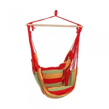 Scaun suspendat pentru grădină ADDU Tobago, roșu