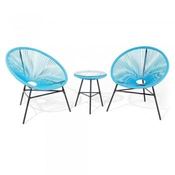 Set mobilier de grădină Monobeli Bohemian, albastru