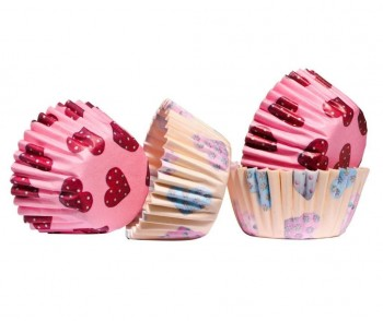 Set 100 forme de copt briose Mini Hearts