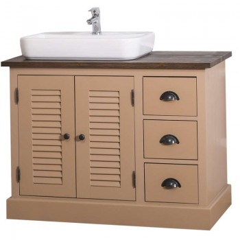 Dulap de baie cu uși și sertare Austral